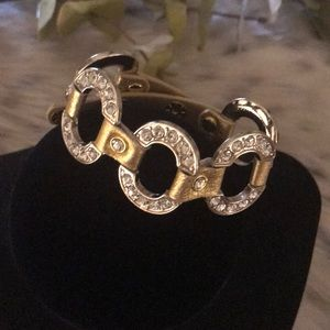 Jewelry - GOLD LEATHER 5 CIRCLE BRACELET
